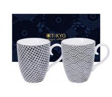 Zestaw kubków Wave & Raindrop Black Tokyo Design Studio, 2 szt.