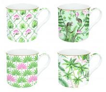 Zestaw kubków Coffeemania Wild Tropical Easy Life, 4 szt.