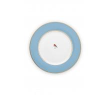Talerz obiadowy Love Birds Blue PiP Studio, 26,5 cm