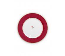 Talerz obiadowy Love Birds Red PiP Studio, 26,5 cm