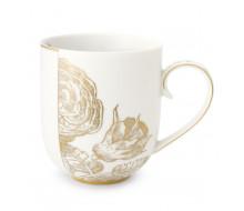 Kubek porcelanowy Royal White Golden Flower 325 ml