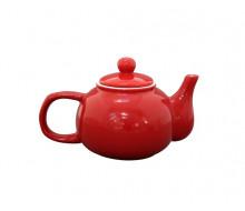 Dzbanek do herbaty czerwony Krasilnikoff, 1000 ml