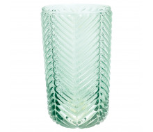 Szklanka Pale Allover zielona Green Gate 500 ml