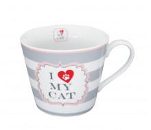 Kubek I Love My Cat Krasilnikoff, 350 ml