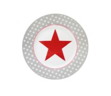 Talerz deserowy Big Star Light Grey Krasilnikoff, 20 cm