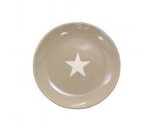 Talerz deserowy Star Milky Brown Krasilnikoff, 20 cm