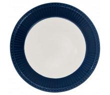 Talerz obiadowy Alice Dark Blue Green Gate, 26,5 cm