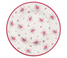 Talerz deserowy Flora White Green Gate, 20.5 cm