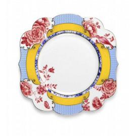 talerz deserowy w kwiaty