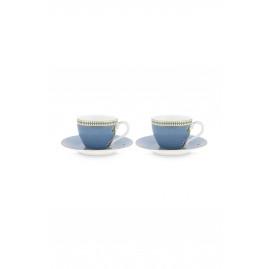 Zestaw filiżanek do espresso La Majorelle Blue PiP Studio, 2 szt.