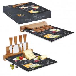Deska do serów z nożami World of cheese 30x25 cm
