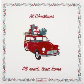Deska Christmas Car Red Green Gate