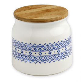 Pojemnik porcelanowy  Blue Geometrics