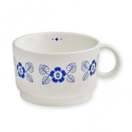 Filiżanka porcelanowa Blue leaves