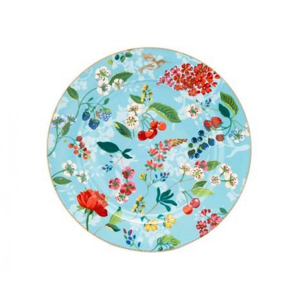 Talerz obiadowy Humming Birds Blue 32 cm
