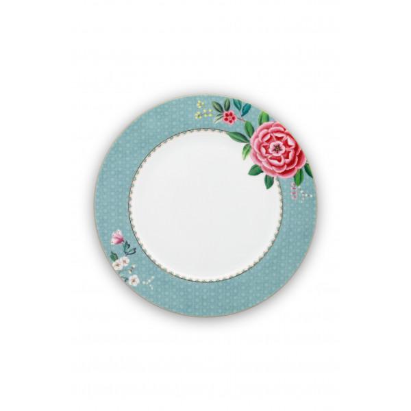 talerz obiadowy w kwiaty Blushing Birds