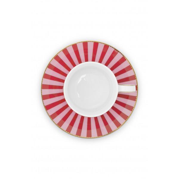 Filiżanka Love Birds Medallion Red-Pink 200 ml
