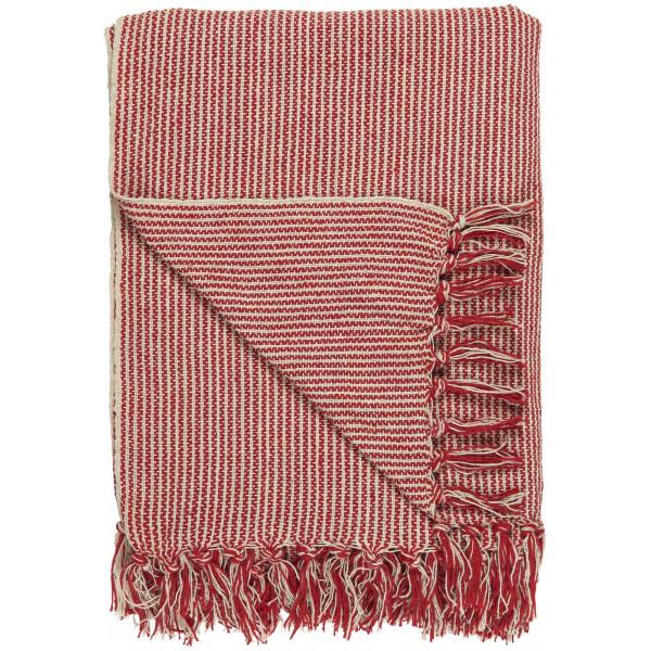 Koc/pled red small stripes Ib Laursen