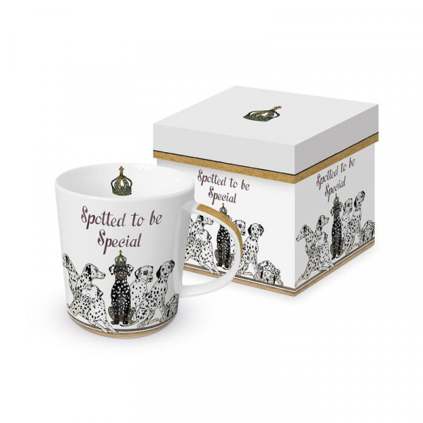 Kubek porcelanowy Dalmatyńczyki w ozdobnym opakowaniu