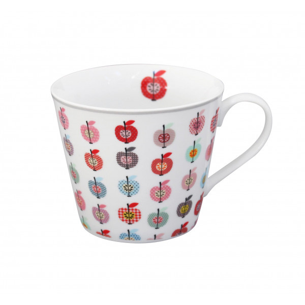 Kubek porcelanowy w jabłka