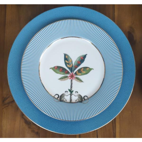 Talerz deserowy La Majorelle Blue PiP Studio, 21 cm