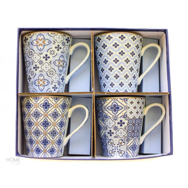 Kubki porcelanowe niebieskie