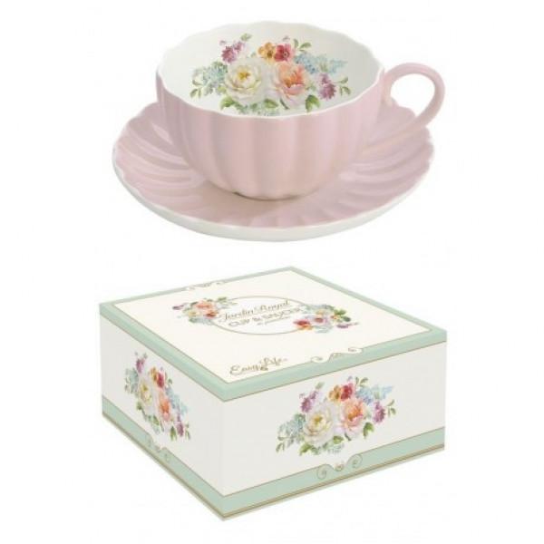Filiżanka porcelanowa Royale różowa