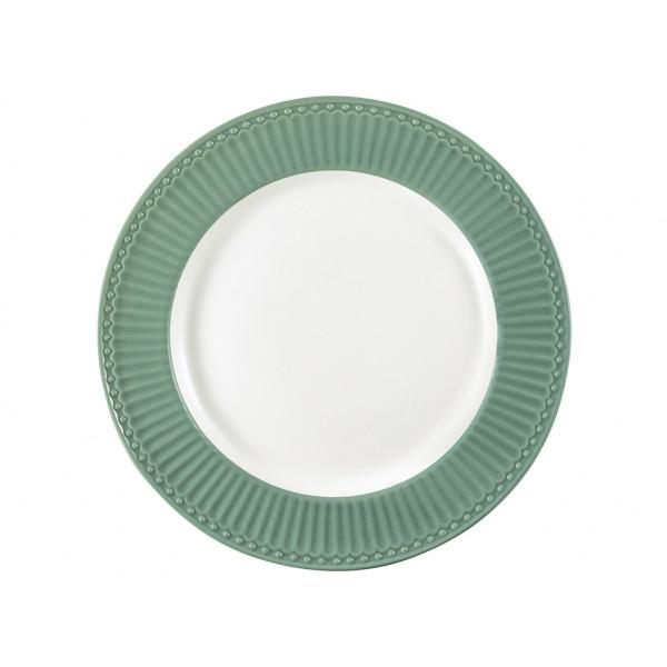 Talerz obiadowy Alice Dusty Green, Green Gate, 26,5 cm