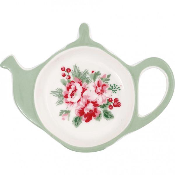 Talerzyk na herbatę Charlie White Green Gate,10 cm