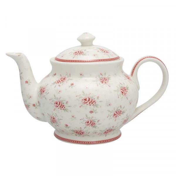 Dzbanek do herbaty Flora White