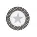 Talerz deserowy Big Star Dark Grey Krasilnikoff, 20 cm